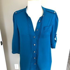 Cobalt blue blouse by Mustard Seed, SIZE SMALL